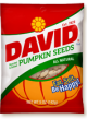 David Pumpkin Seeds Original Flavor 2.5 oz t(Box of 12 Packs) Buy It at www.UsaCandyWholesale.Com