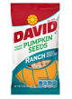 David Pumpkin Seeds Ranch Flavor 2.5 oz (Box of 12 Packs) Buy It at www.UsaCandyWholesale.Com