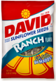 David Sunflower Seeds Ranch Flavor 1.5 oz (Box of 12 Packs) Buy It at www.UsaCandyWholesale.Com