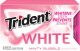 Trident White Minty Bubble Flavor (Box of 9 Packs) Buy It at www.UsaCandyWholesale.Com